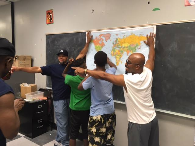 Tutoring these 'at risk' young men is something that not only helps them, but it helps us...